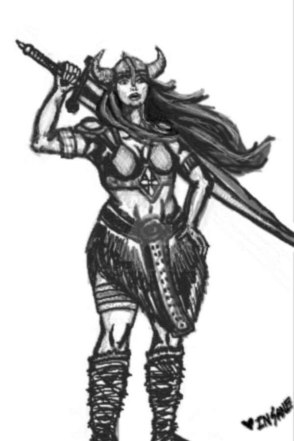 Viking woman  by darklylightkayleigh
