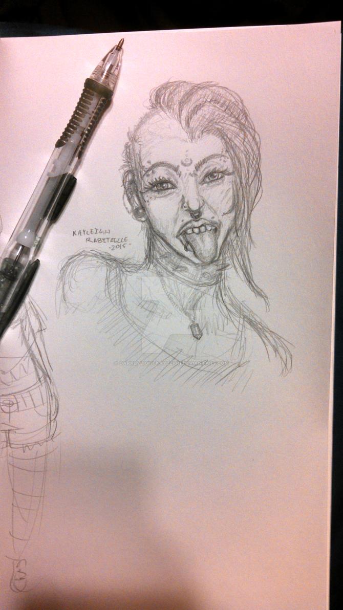 Punk Chick by darklylightkayleigh
