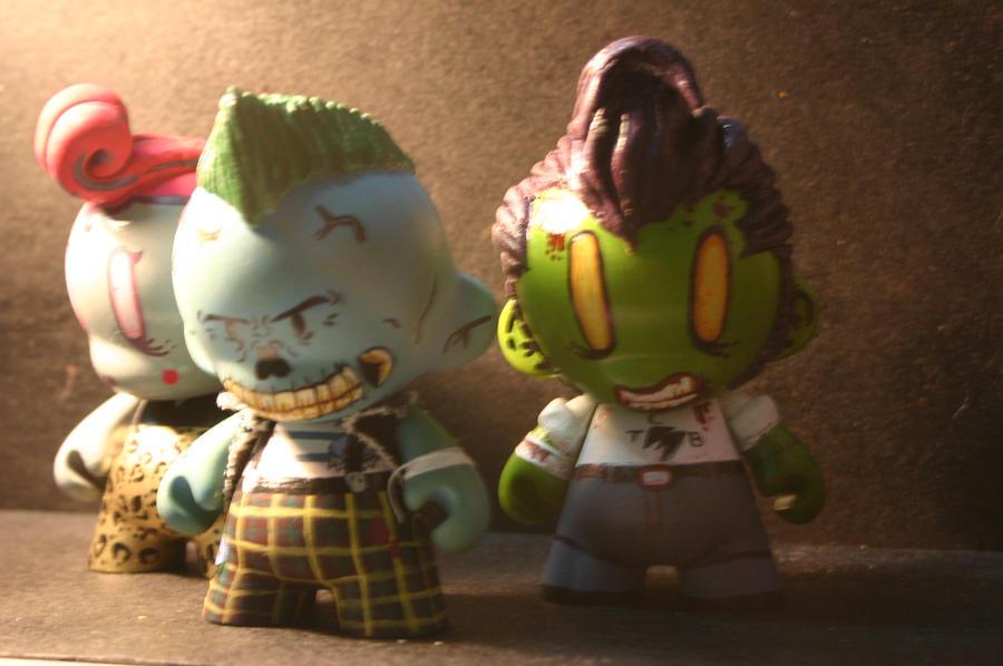 Rockabilly Zombie Wallpaper Rockabilly Zombies Munny s by