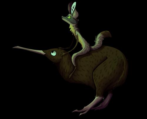Kiwi on kiwi by MalwinaTruskawka