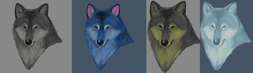 A little fun with wolf by MalwinaTruskawka