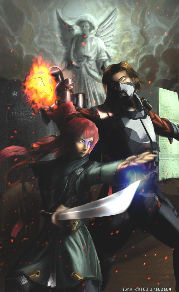Cthulhutech Character Design - Fan Art Duo by H3KATE