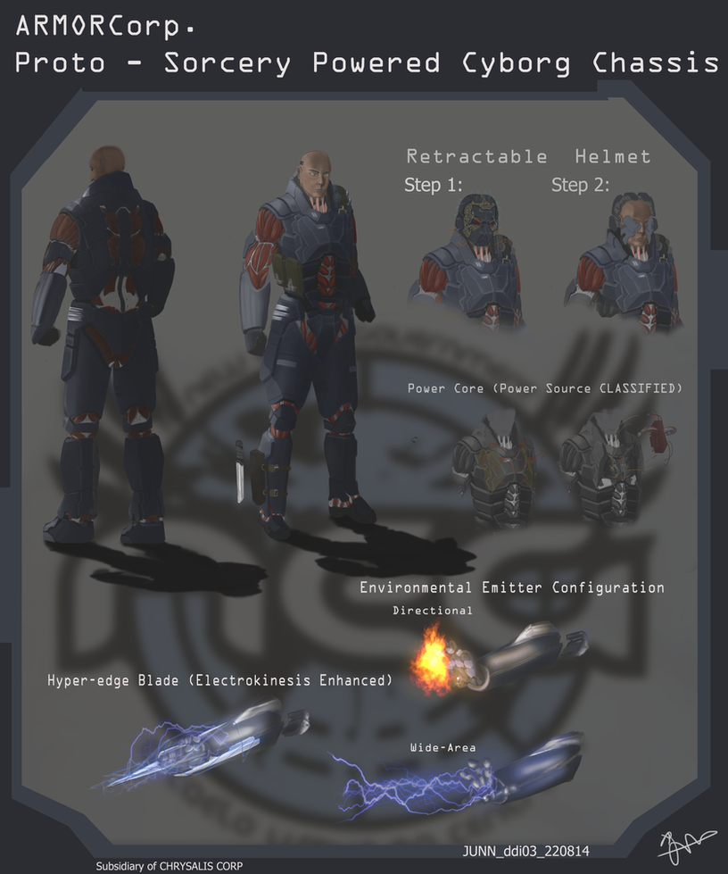NEG Sorcery-Augmented Combat Chassis by H3KATE