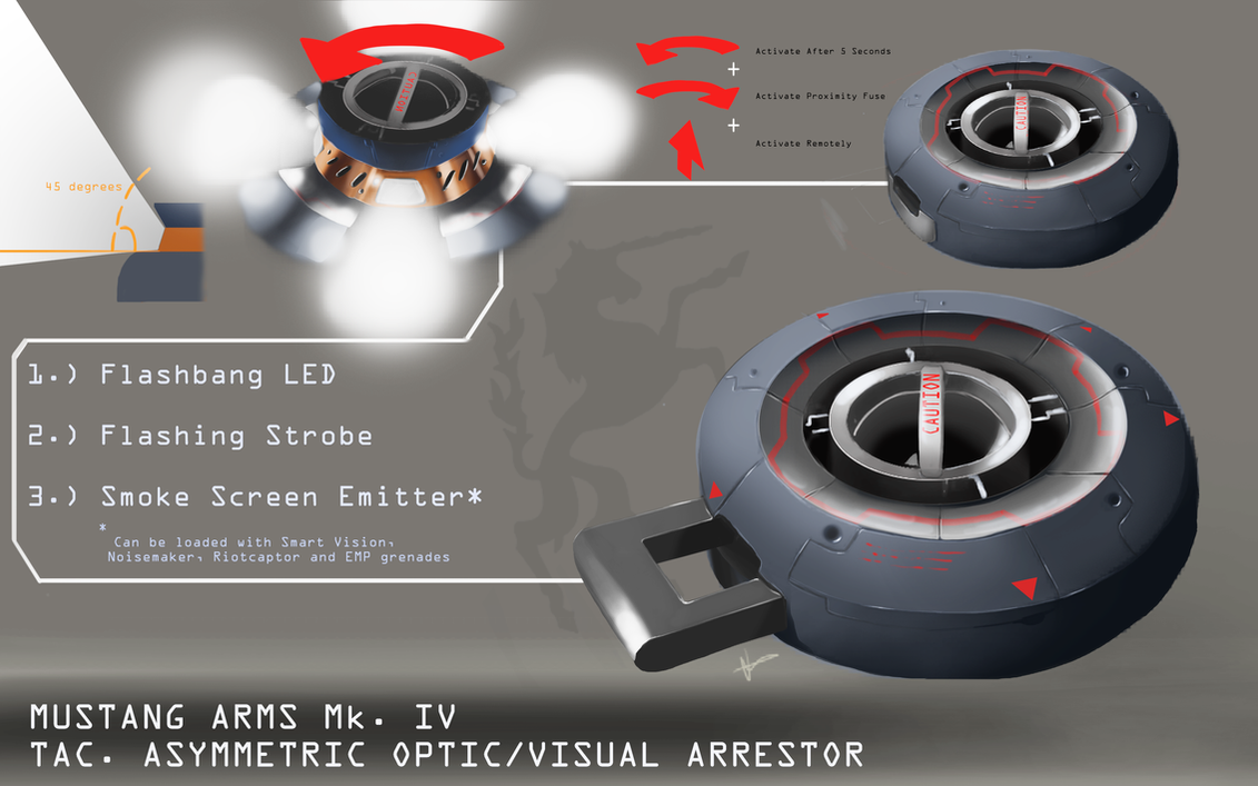 DX3 -  Optical/Visual Non-Lethal Arrestor by H3KATE