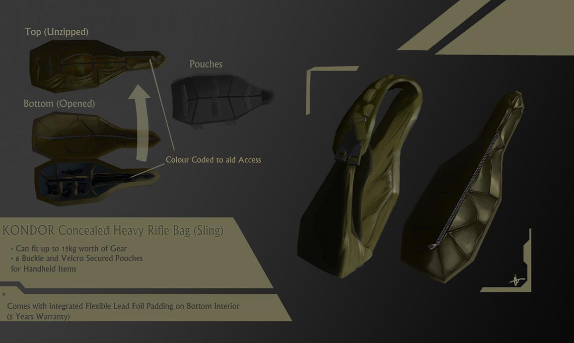 DXHR KONDOR Concealed Rifle Bag by H3KATE