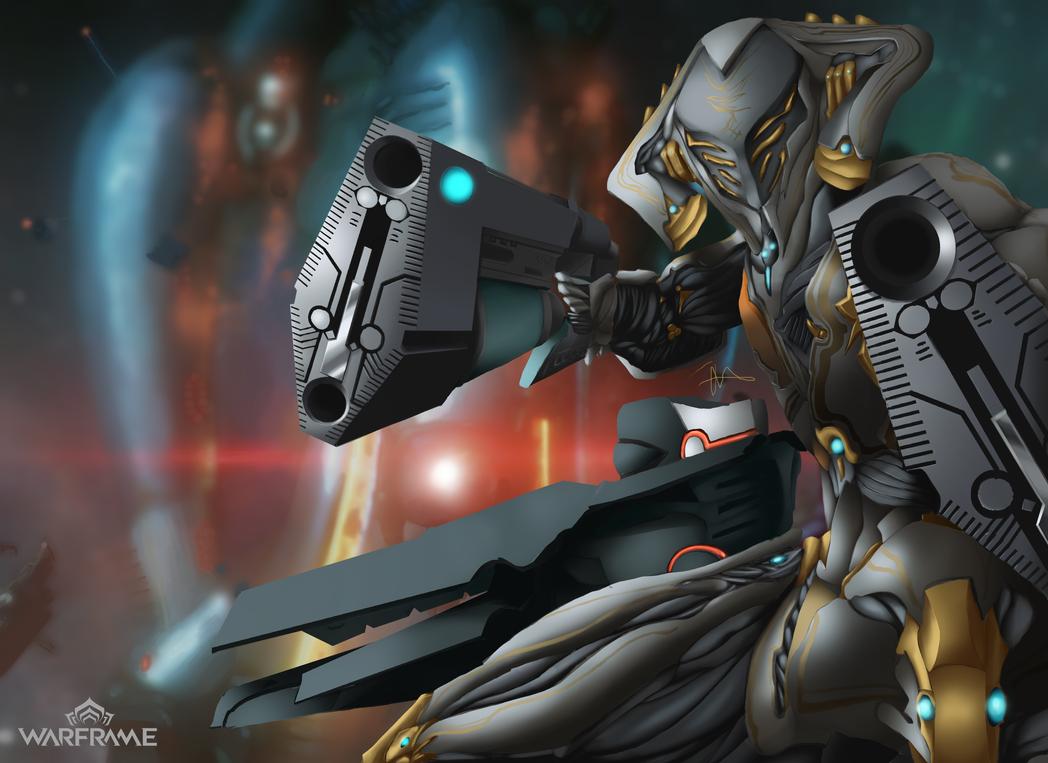 Fanart Warframe - Archwing Loki Prime by H3KATE