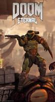 Doom Eternal - Doom Slayer Fanart by H3KATE