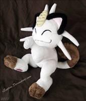 Posed Meowth Plush by xBrittneyJane