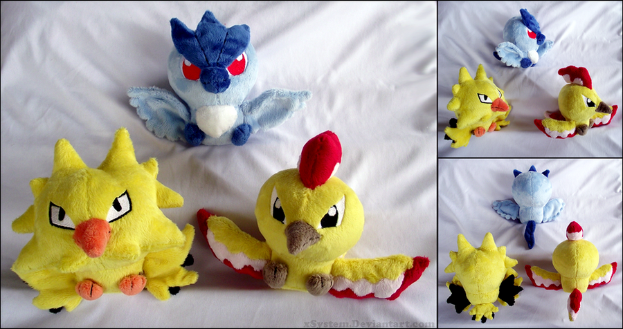 Legendary Bird Pokedolls by xSystem