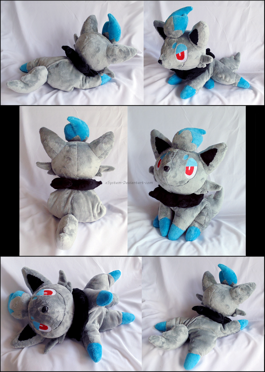Shiny Zorua Laying Plush by xSystem