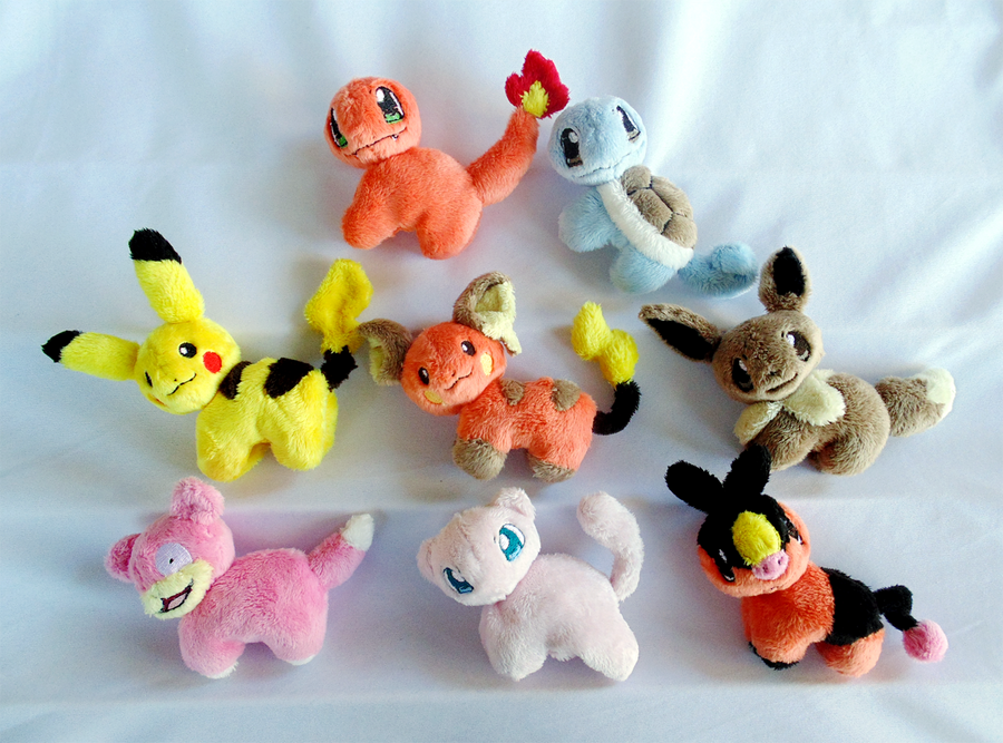 Minature Pokemon Magnet Plush by xSystem
