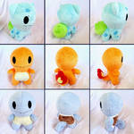 Gen 1 Starter Pokemon Shots