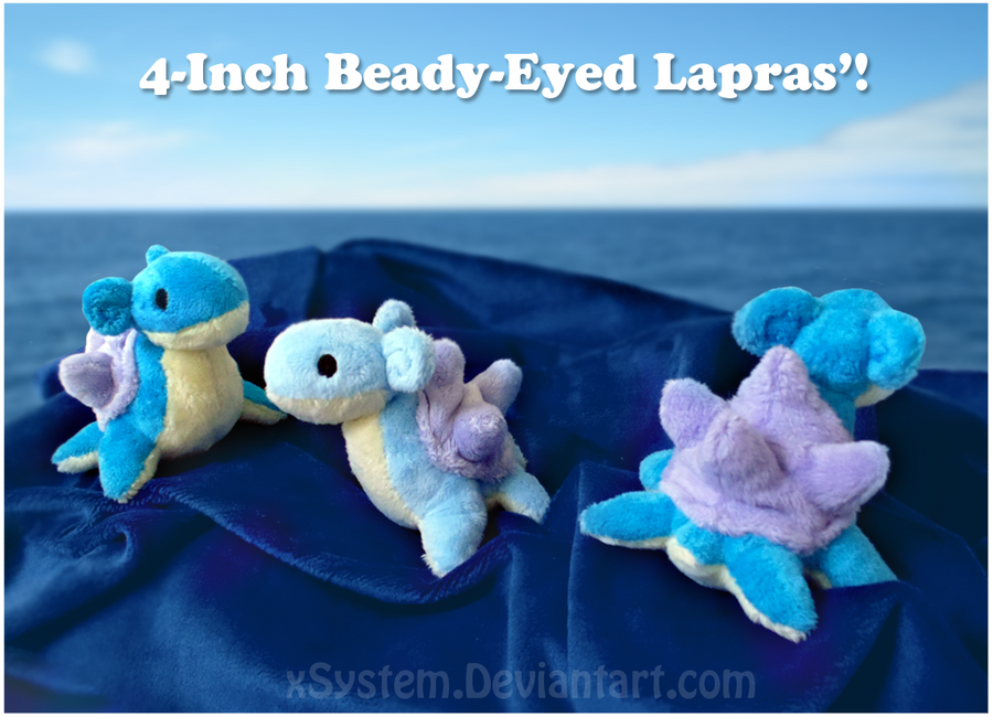 Beady-Eyed Lapras Plushies by xSystem