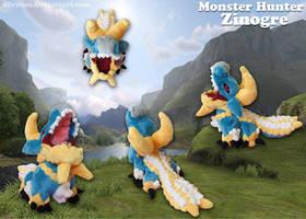Monster Hunter - Zinogre Pokedoll! by xBrittneyJane