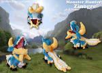 Monster Hunter - Zinogre Pokedoll!