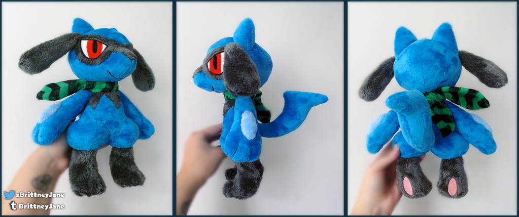 Riolu Plush by xBrittneyJane