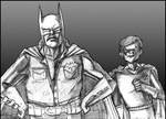Rowsdower and Troy as Batman and Robin