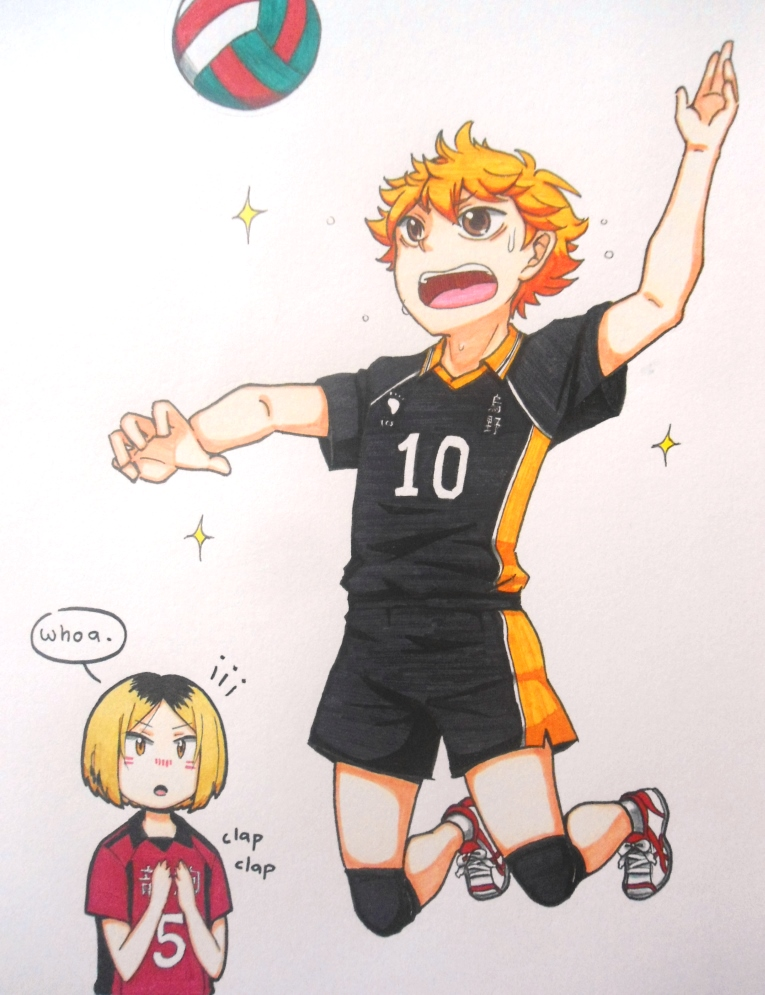 [Art Trade] Hinata x Volleyball (+Kenma) by KagamochiLen