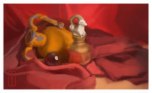 Still Life  Red and goat  FINAL with border by Irina-Ari