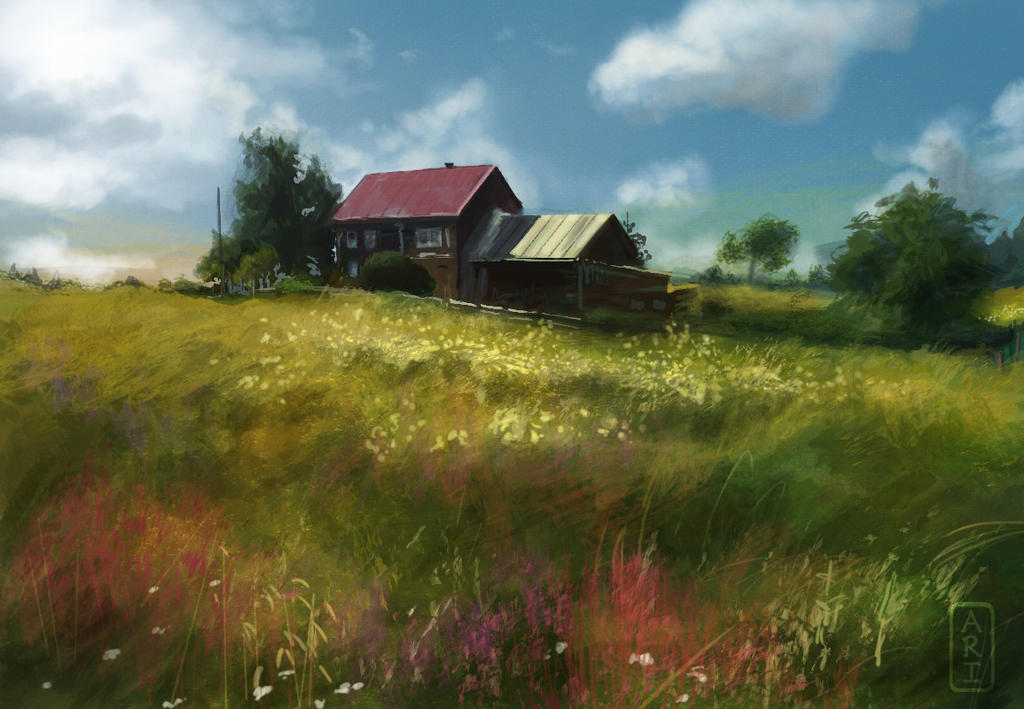 Study of Karelian House (12/29) by Irina-Ari