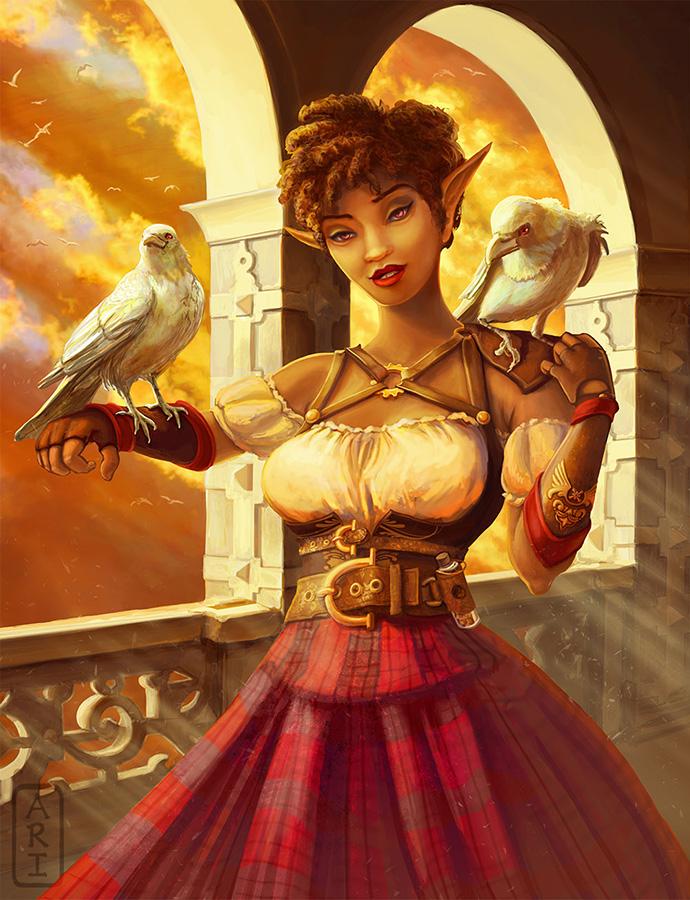 Corva the Crow Maiden by Irina-Ari