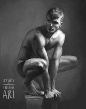 Study of male figure, 3/25/16