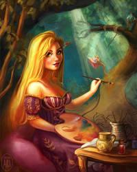 Rapunzel, Still Adding to Her Gallery by Irina-Ari