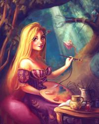 Rapunzel, Still Adding to Her Gallery (ver2)