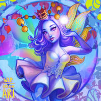 Work in Progress: Fluorescent Fairy by Irina-Ari