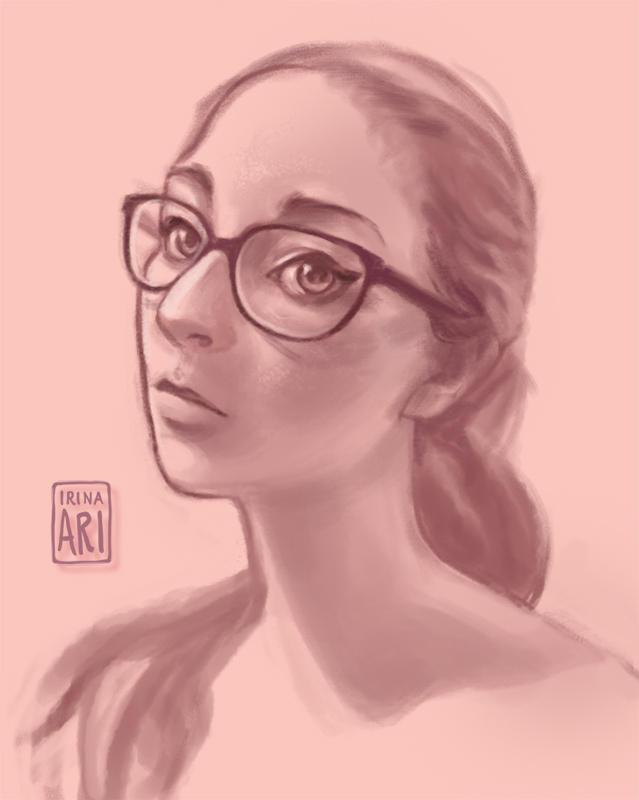 Self Portrait in Pink