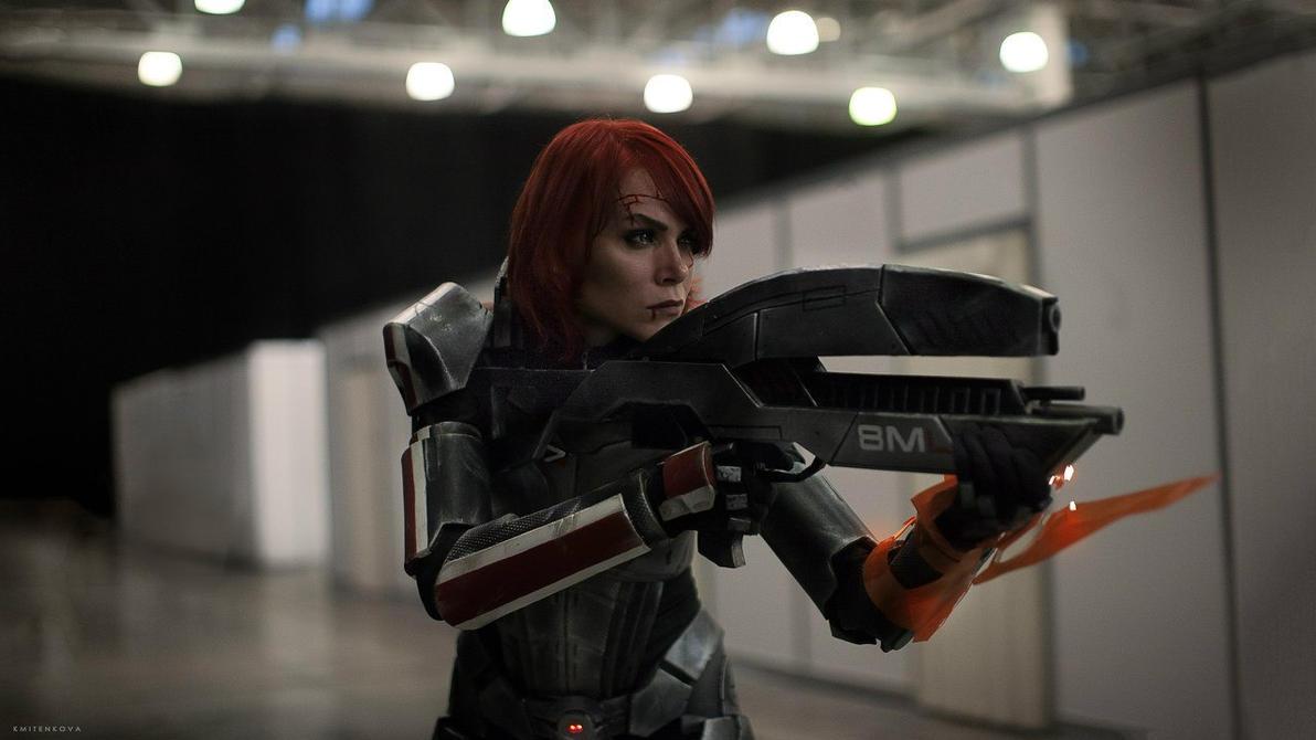 Commander Shepard on duty by FieryVeela