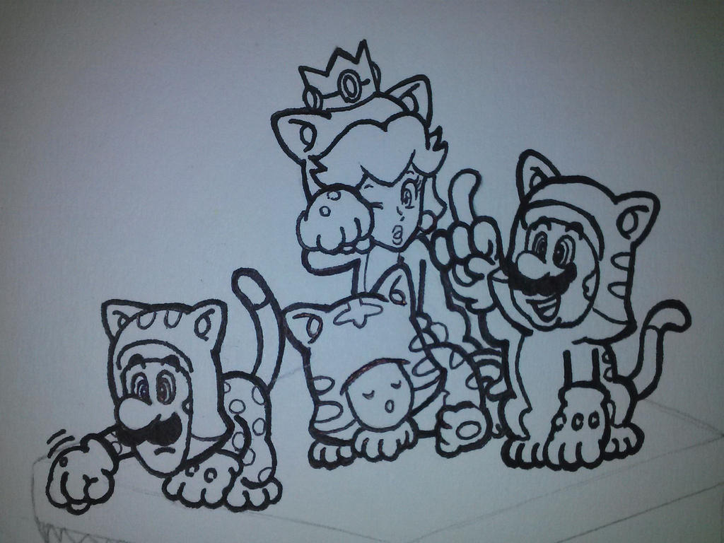 Kleurplaten Super Mario 3d Land.Luxury Super Mario 3d World Coloring Pages Thousand Of The Best
