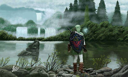 Zelda - Zora's River 3D by Lucsdf