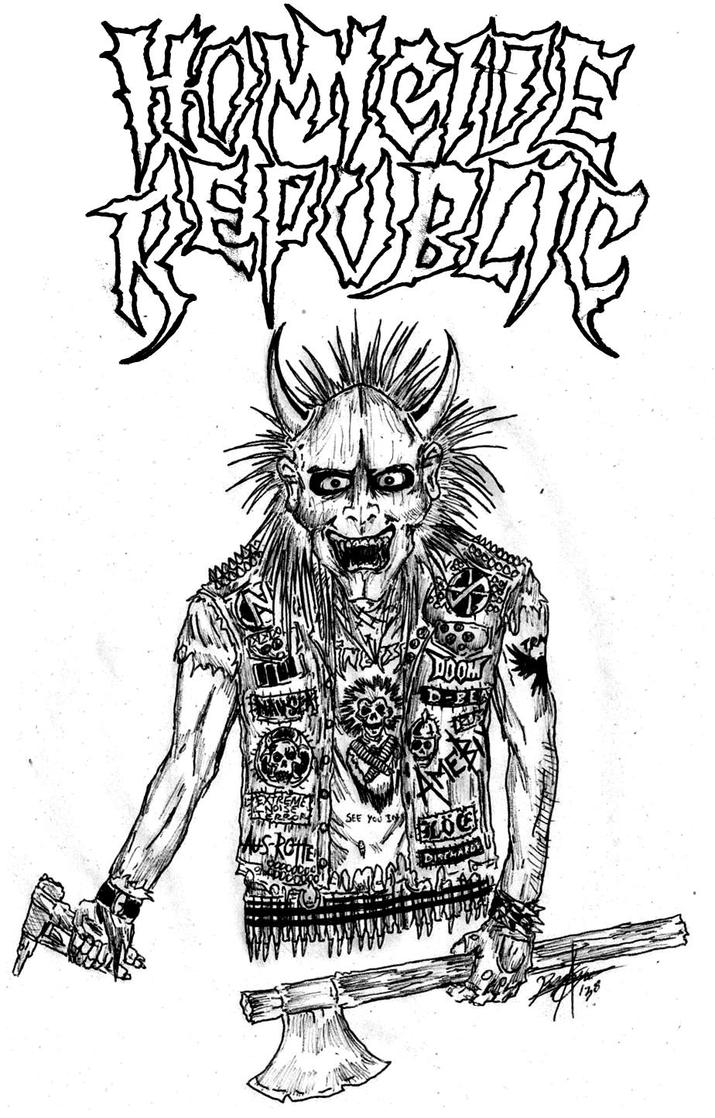 Crust Punk Artwork | Crust Punk Drawing Veloz crust punk ...