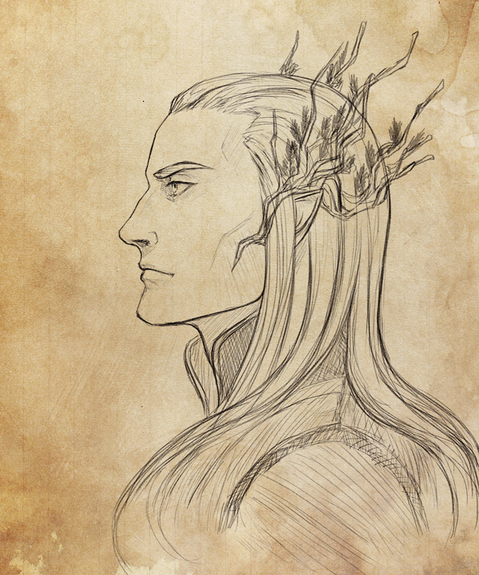 Thranduil sketch by Vrihedd