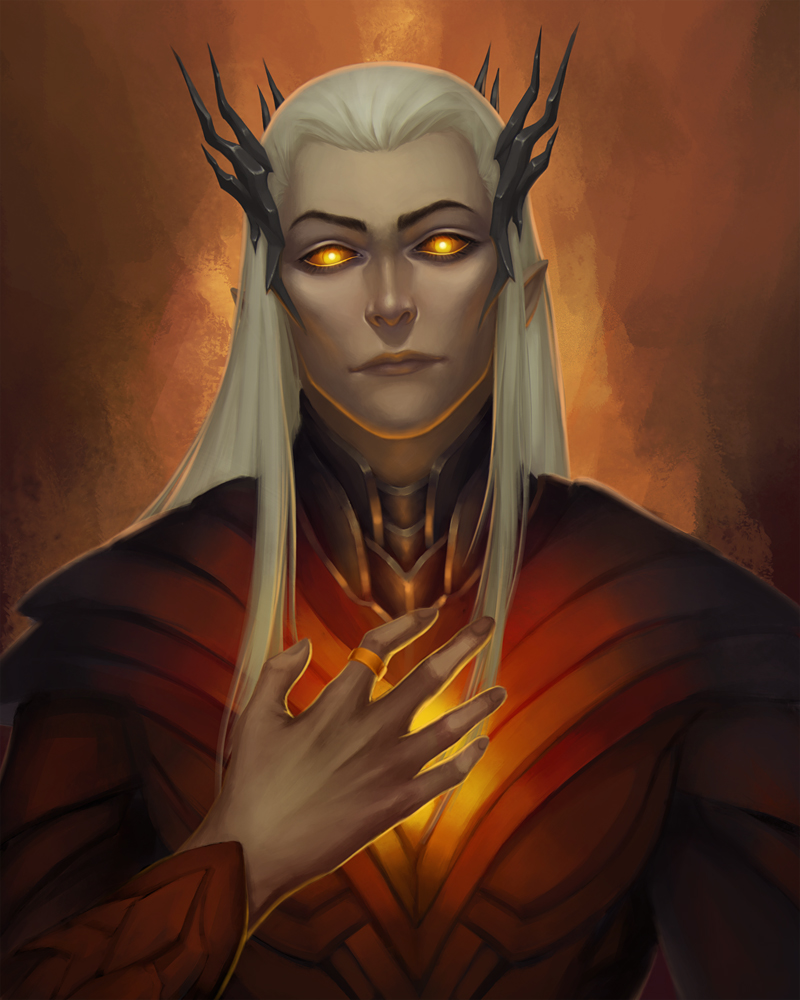 Smaug the Stupendous Thranduil_and_the_one_ring_by_vrihedd-d8e43fk