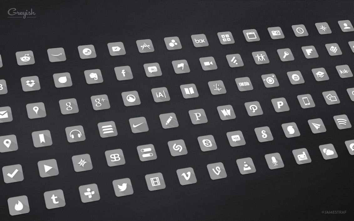 Greyish Icons by jamestraf