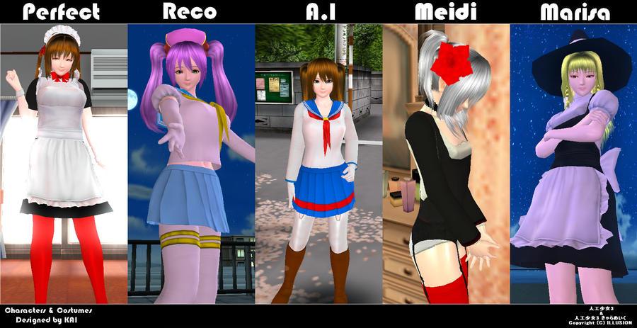 artificial girl 3 character downloads