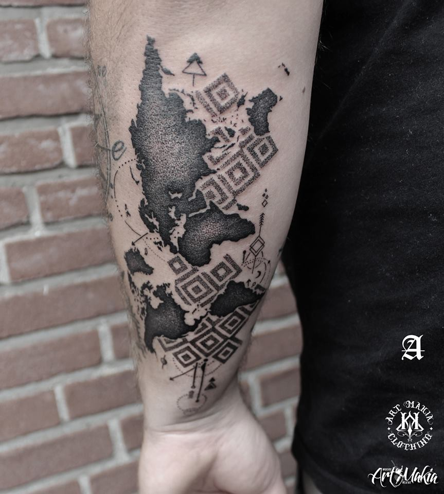 Maptattoo explore maptattoo on deviantart slicey 6 3 map dotworktattoo by artmakia gumiabroncs Choice Image