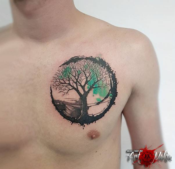 abstract tree tattoo by artmakia on deviantart rh artmakia deviantart com Abstract Swirl Tattoo abstract pine tree tattoo