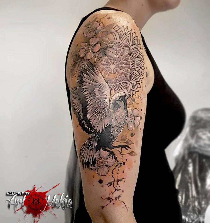 bird mandala abstract tattoo by artmakia on deviantart