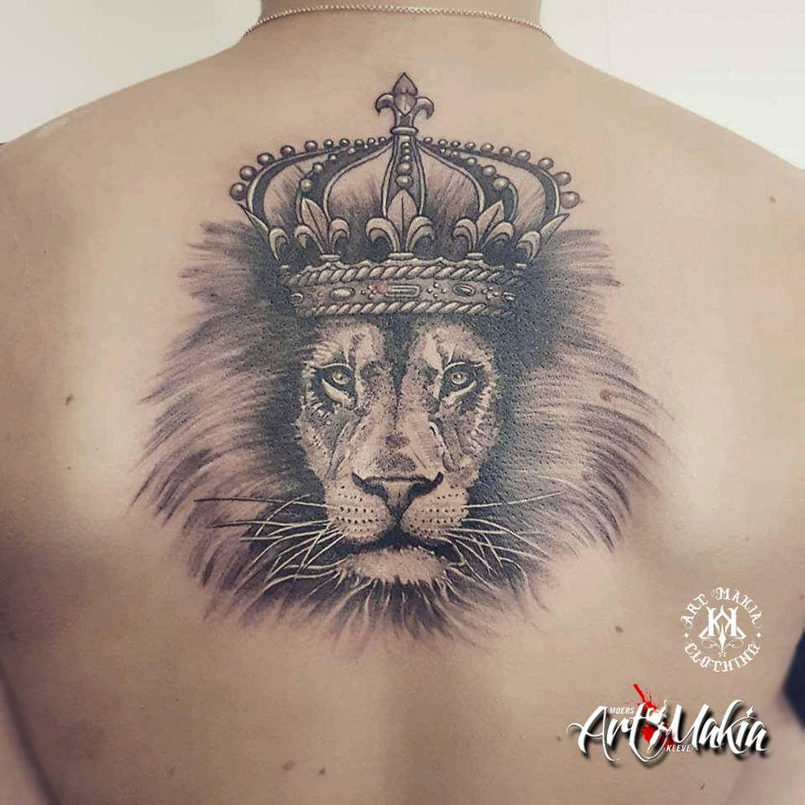 Lion With Crown Wallpaper Lion With Crown Tattoo Design: Lion With Crown Tattoo By ArtMakia On DeviantArt