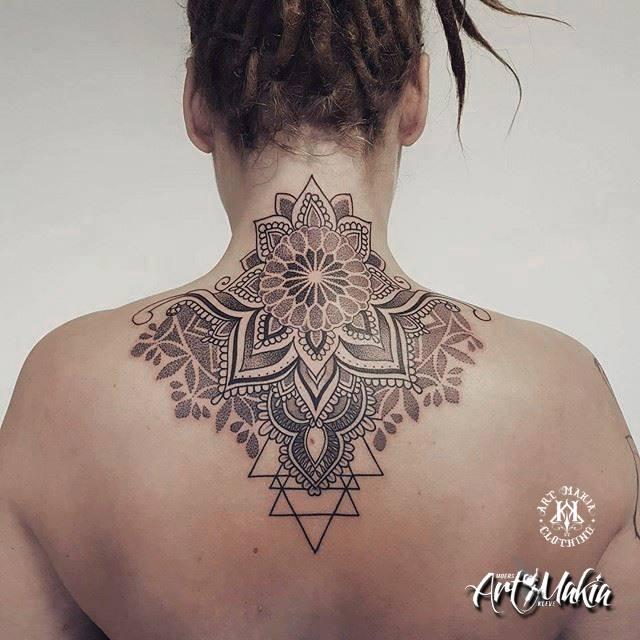 Mandala Neck Tattoo By Artmakia On Deviantart