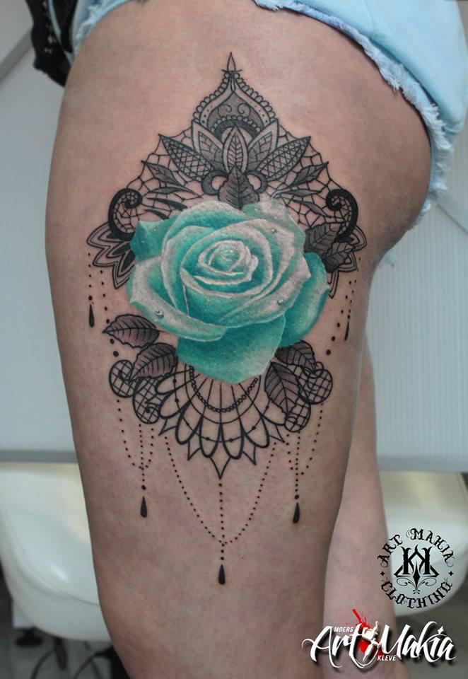 bbcaf1039c22c Mandala Lace Rose tattoo by ArtMakia on DeviantArt
