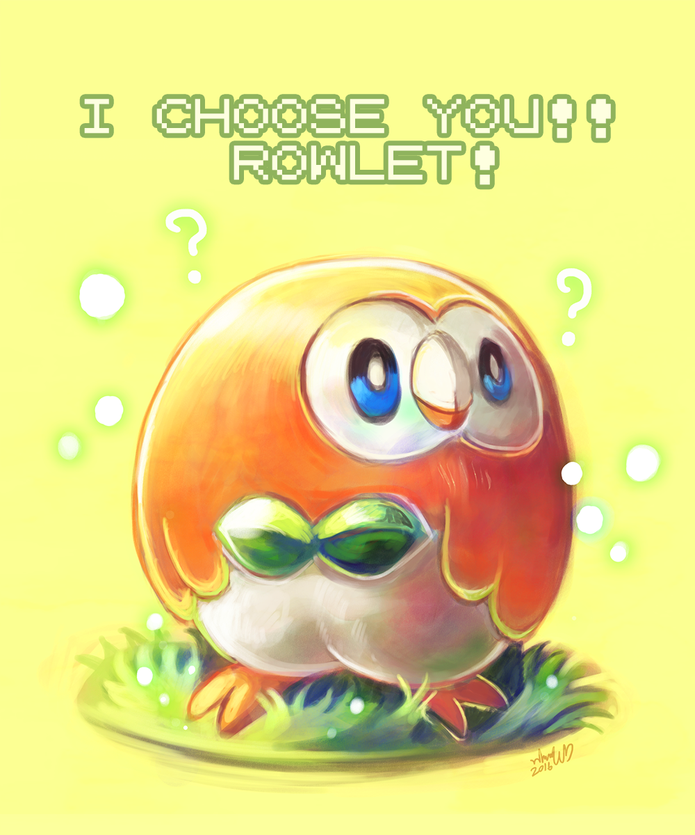 PKMN : Rowlet by whitmoon