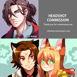 COM : Headshot Comission by whitmoon