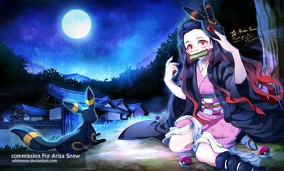 COM : Nezuko and Umbreon
