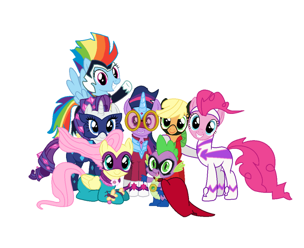 The Mane 6 And Spike
