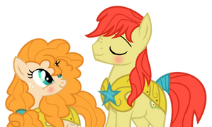 Bright Mac and Pear Butter as Royal Guards by darbypop1