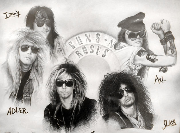 Guns N Roses by outline3d